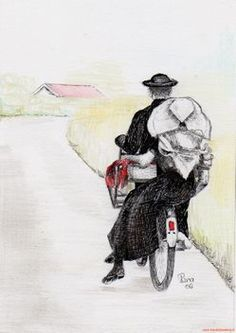 Going Dutch, Learning Theory, My Heritage, Folklore, Traditional Outfits, Netherlands, Holland, Watercolor, Painting