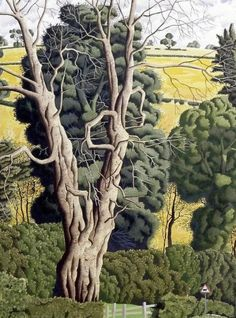 Artist Simon Palmer has a quirky take on the Yorkshire Dales Watercolor Landscape, Landscape Art, Landscape Paintings, Watercolor Art, Uk Landscapes, Environment Painting, Yorkshire Dales, Love Illustration, New Artists