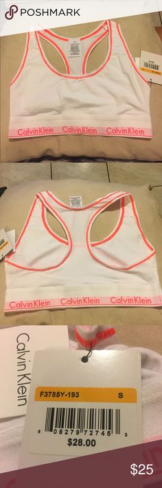 NWT CALVIN KLEIN BRALETTE SIZE SMALL New with tags. NO DEFECTS. Any questions ask below. Calvin Klein Intimates & Sleepwear Bras