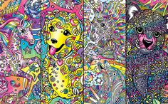 Get Ready To Bust Out The Neon Gel Pens A Lisa Frank Coloring Book For Adults Is On Way Color Me Will Hit 13000 Dollar General Stores