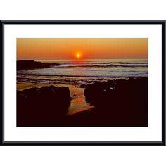 John K. Nakata 'Sunset' Framed Print Art ( Metal/ Mat)