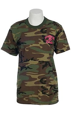 Backwoods Barbie® Ladies Camo Shopping with Your Husband Short Sleeve Tee | Cavenders Boot City
