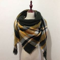 Black & Yellow Blanket Scarf