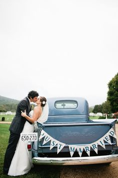 Rustic Style Barn Wedding - of course we love the old truck for a photo op