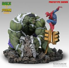sideshow collectibles; spider-man vs the hulk
