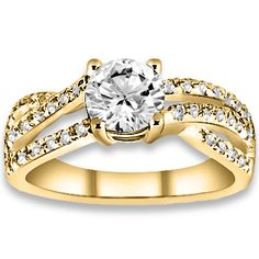 0.80 ctw 14k YG Natural H-I Color, SI Clarity, Accent Diamonds Engagement Ring http://www.pricepointshop.com/product.asp?idproduct=18558