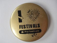 Badges I Love Festivals by Pro Festivals
