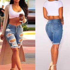 Džínové kraťasy s dírami – Velikost L Na tento produkt se vztahuje nejen zajímavá sleva, ale také poštovné zdarma! Využij této výhodné nabídky a ušetři na poštovném, stejně jako to udělalo již velké množství spokojených … Bermuda Shorts, Women, Fashion, Moda, Fashion Styles, Fashion Illustrations, Fashion Models