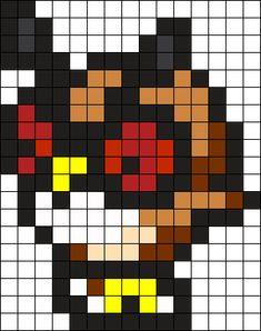 Hoothoot Pokemon Bead Pattern Perler Bead Pattern / Bead Sprite