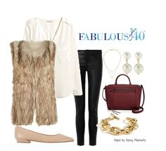 A faux fur vest is a great way to add some texture to your leggings. | Fabulous After 40