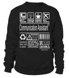 Communication Assistant Multitasking Job Title T-Shirt #CommunicationAssistant