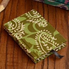 Green Fabric Cover Notebook - 11X 8 cm