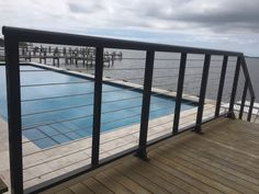 Bronze Cable Rail | Oak Construction | Rehoboth Beach Stainless Steel Cable Railing, Cable Railing Systems, Rehoboth Beach, Deck, Bronze, Construction, Outdoor Decor, Home, Building