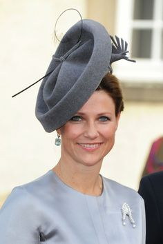 HRH Princess Martha Louise of Norway. Hat by Lock & Co Hatters - Lumos.