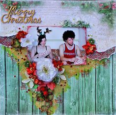 December 25th Layout - The Scrapbook Store - Lemoncraft Christmas Greetings