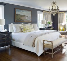 CR Laine Furniture's Pierce Wing Chair in a bedroom design by Nell Hills