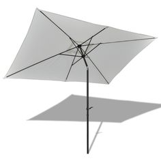 Patio Umbrella Sunshade Parasol Squere 10' Hanging Outdoor Yard White Furniture #PatioUmbrellaSunshadeParasol
