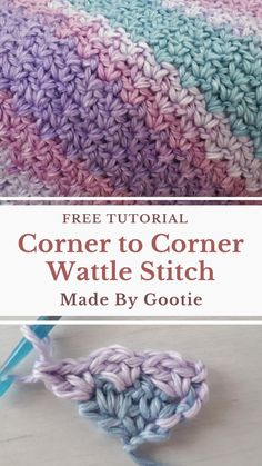 Crochet Crafts, Crochet Yarn, Easy Crochet, Crochet Hooks, Free Crochet, Crochet Afghans, How To Crochet, Things To Crochet, C2c Crochet Blanket