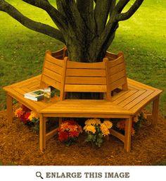 Garden Tree Bench Woodworking Plan, Outdoor Furniture Project Plan   WOOD Store