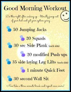 Good Morning Workout - Jumpstart Your Day - HungryLittleGirl