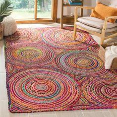 5'X8' Stripe Woven Area Rug Red - Safavieh : Target Mat Yoga, Large Floor Pillows, Mandala Rug, Mandala Pattern, Braided Rag Rugs, Meditation Mat, Cape Cod, Jute Rug, Round Rugs