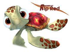 Render Disney - Renders Tortue Monde de Nemo Finding Nemo Disney Pixar