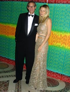 Close duo: Gwyneth is pictured with her father Bruce in October 2001, one year before his death