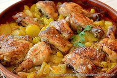 Cocina – Recetas y Consejos Pollo Asado Recipe, Pollo Guisado, Great Recipes, Healthy Recipes, Mediterranean Chicken, Roast Chicken, Lemon Chicken, Lunches And Dinners, Main Meals