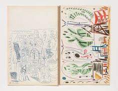 Spread from Picasso's Carnet de la Californie. Photo: Kristopher McKay