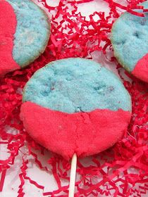 Red Couch Recipes: Jello-O Lollipop Cookies