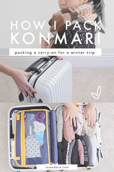 how i pack a carry-on konmari style // inspired by the life-changing magic of tidying up by marie kondo