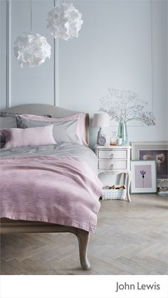 Buy John Lewis & Partners Rose Mist Bedroom Furniture from our Bedroom Furniture Ranges range at John Lewis & Partners. Free Delivery on orders over Dream Bedroom, Home Bedroom, Bedroom Furniture, Master Bedroom, Bedroom Decor, Bedroom Ideas, Modern Bedroom, Diy Furniture, Bedrooms
