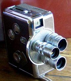 Vintage Revere 8 Wind Up Movie Camera Magazine Cine Model 44 Leather Case 3 Lens #MovieCamera #Revere
