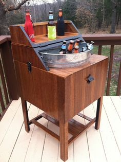 Wood Beer Cooler Refurbished Wooden Pella by TerramaeAndCo, $400.00