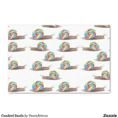 Candied Snails tissue paper #gift #giftwrap #paper