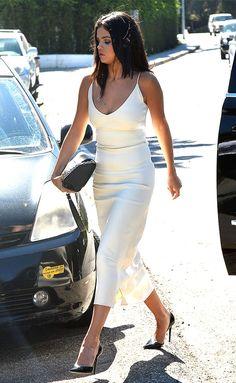selena gomez look total white
