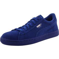 Puma - Boy's Suede Jr Low Top Sneaker (Big Kid) - Monaco Blue