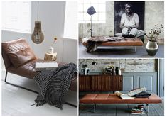 Daybeds: Leder in Karamell, Honig, Cognac