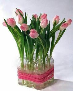 Des tulipes roses pour votre déco