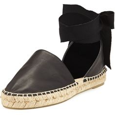 Vince Raelin d'Orsay Flat Espadrille Sandal ($250) ❤ liked on Polyvore featuring shoes, sandals, espadrilles, black, black flat sandals, ankle strap flat sandals, espadrille sandals, black flat shoes and ankle strap sandals