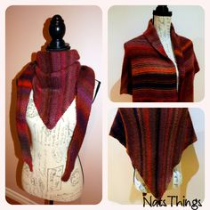 Knitted shawl Knitted Shawls, Knitting Projects, High Neck Dress, Dresses, Fashion, Knit Shawls, Turtleneck Dress, Gowns, Moda