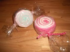 Candy roll (baby wash clothes)