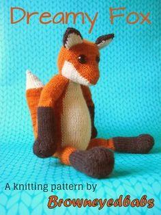 Dreamy Fox knitting pattern by browneyedbabs - $4.99