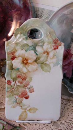 2011Wild Roses and Blackberry Study-1st fire | ARTchat - Porcelain Art Plus (formerly Chatty Teachers & Artists)