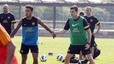 entreno 07-09-12; Thiago and Tito