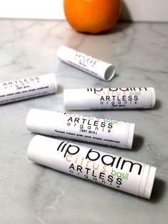 citrus basil lip balm / organic lip balm / simple lip balm / pure / natural / .15 ounce  #organic #lipbalm #handmade #Etsy #ARTLESSorganix #betterThanBurts