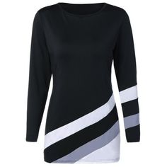 Stripe Color Block Slim Fitted Tee ($14) ❤ liked on Polyvore featuring tops, t-shirts, colorblock top, block t shirt, stripe t shirt, color-block tee and slim fit tees