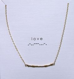 Custom necklaces where they will spell out any message for you in morse code... how cool is that?! (blue poppy)