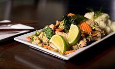 Asian Inspired Chicken with Crispy Basil Cobb Salad, Basil, Chicken, Cooking, Food, Kitchen, Cuisine, Koken, Meals