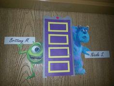 Monsters Inc door decs